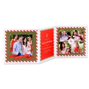 Candy Cane Frame Tri-fold